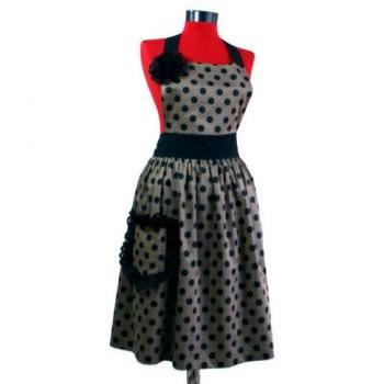 Mothers Days Gift, vintage , retro,  polka dot , cute apron